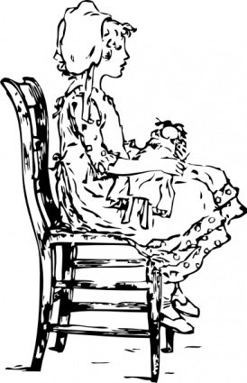 Girl Sitting On A Chair