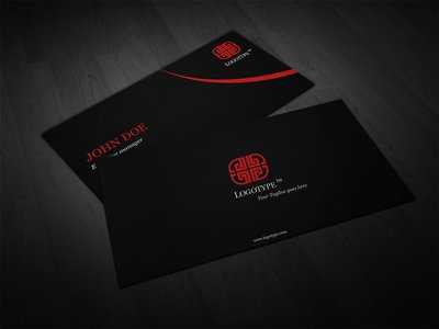Luxury Black Business Card Template