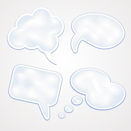 Free Speech Bubble Vector Set