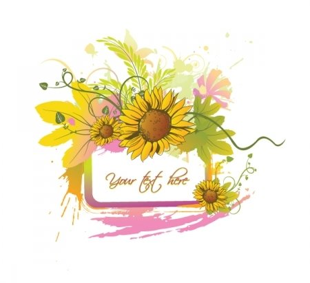 Free vector about free summer floral
