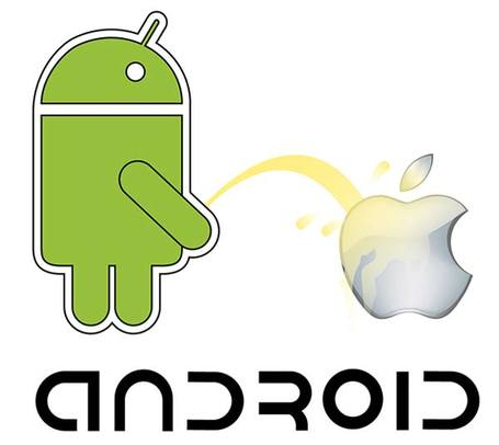 Android vs. Apple-Vector-Ressource