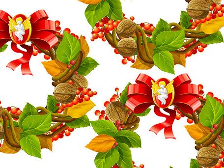 Christmas wreath Vector cool textured material