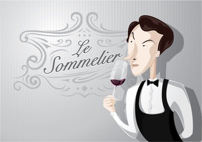 Sommelier cartoon character