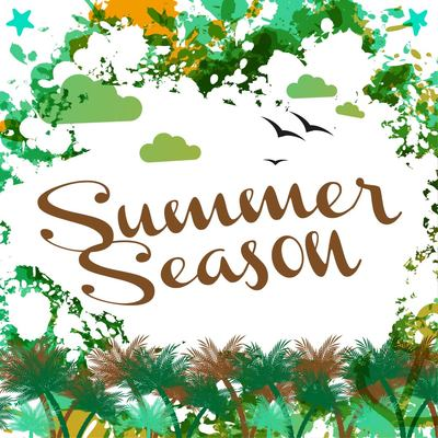Abstract Grungy Summer Season Card