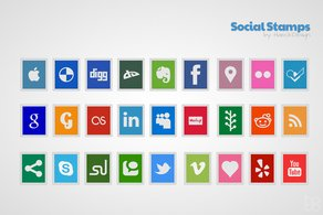 Timbres sociales — Icon Set