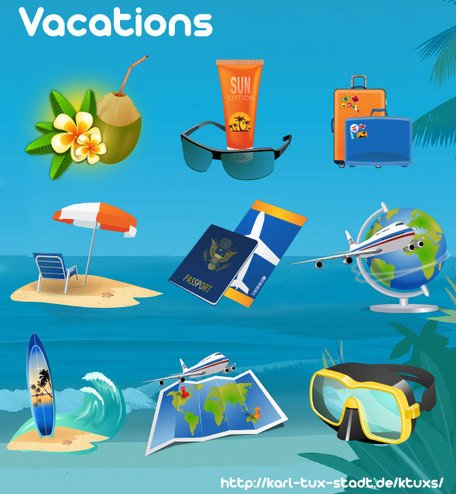 Summer Vacation Vector Art