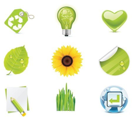 Verde Eco Vector Icons