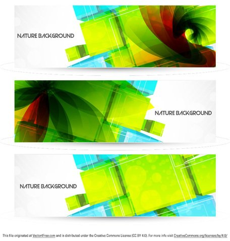 Natureza abstrata fundo Banner Vector Pack