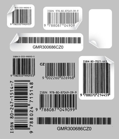 Kreativ och praktisk Bar Code Label Vector 1