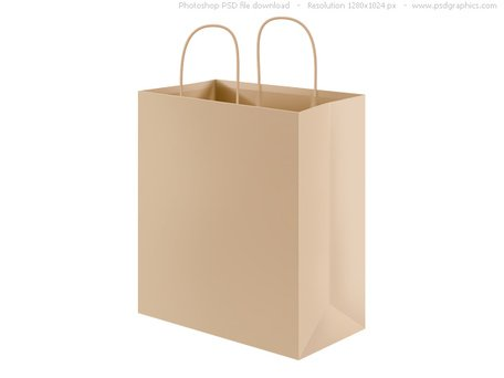 PSD riciclato carta shopping bag