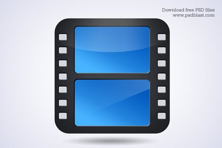 Movie film strip icon