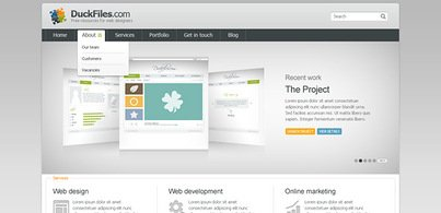 Corporate + porftfolio website template (Free PSD)