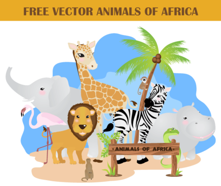 Animali africani gratis Vector Pack