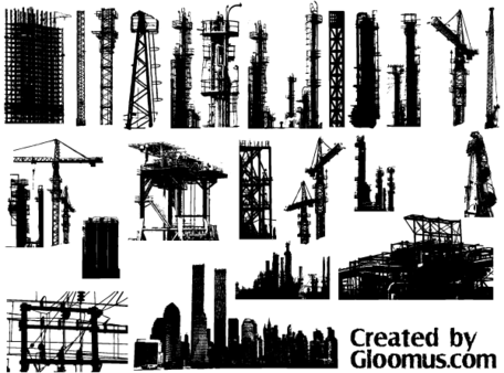 Free Vector Grunge Cityscape Elements