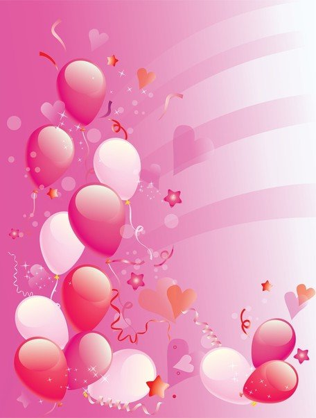 Pink Party Ballons