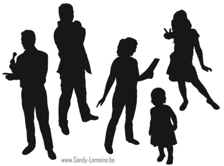 Free Illustrator Silhouette People