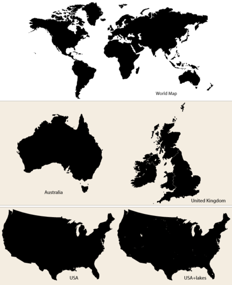 Vector maps world map australia uk and usa vector files clipart vector maps world map australia uk and usa gumiabroncs Choice Image
