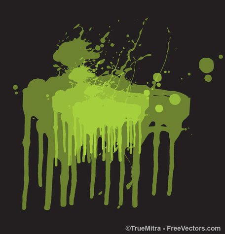 Grunge Dripping Paint