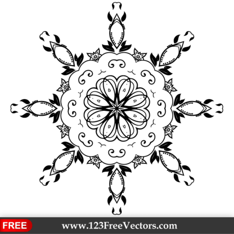 Vector Floral Ornament-Design-Elemente