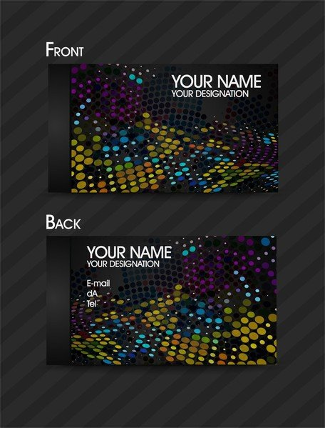 Dynamic Color Business Card Template 01
