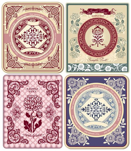 Exquisite pattern border pattern 03