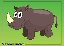 Heureux Cartoon Rhino