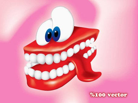 Sorridente denti Cartoon gratis