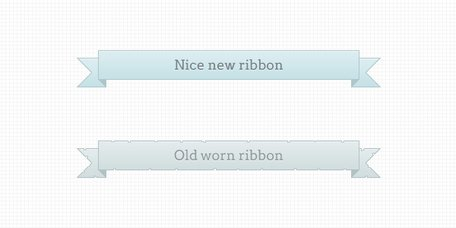 Ribbons new and worn