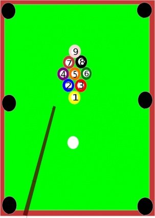 Pool Table Clip Arts