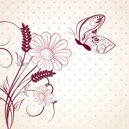 vector beautiful flower background art