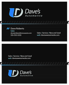 Automotive Dark Business Card