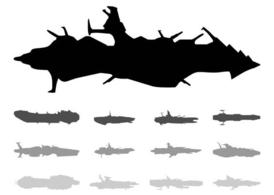 Spaceships Silhouettes Set