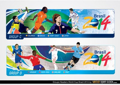 Brasil 2014 World Cup Headers