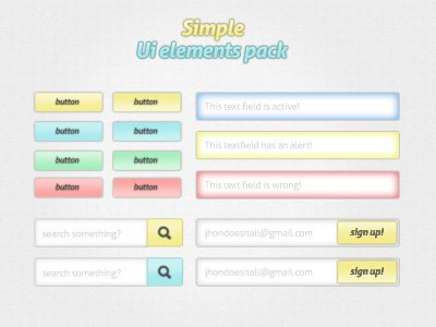 Simple UI element pack