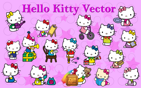 Hello Kitty vektor konst gratis