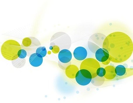 Abstract Circles Background Vector Graphic Art