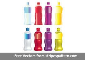 8 sappen fles Vector Mock Up Set 1