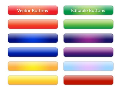 Vektor bearbeitbare Glossy Buttons