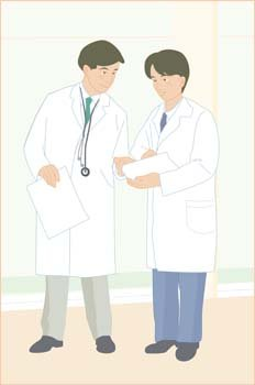 Medical person vector 9