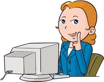 Girls and computer vector 51