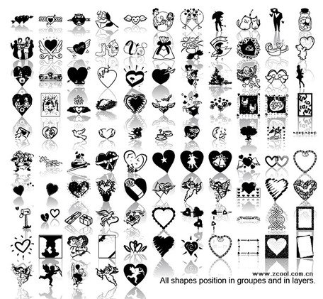 Black and white love element
