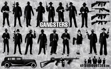 27 gangsters de vecteur