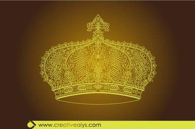 Creative Calligraphic Golden Crown