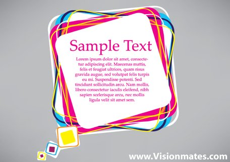 Colorful Square Card