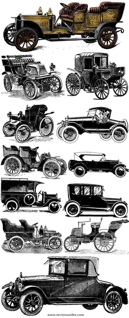 Old Vintage Car Set (12 Cars)