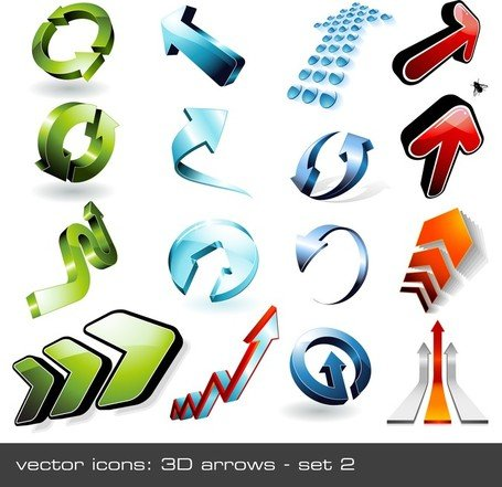 16 Cool 3D Stereoscopic Arrow