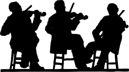 Fiddlers In Silhouette