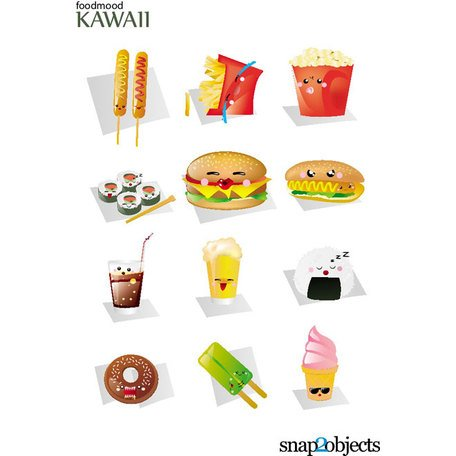 KAWAII FAST FOOD VECTORS.eps