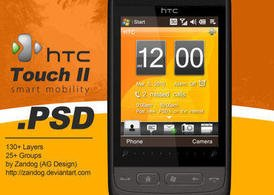 Смартфон HTC Touch 2.PSD