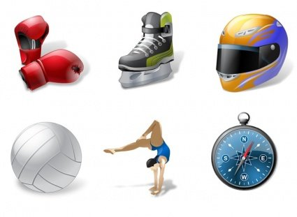 Iconos-Land Sport Vector Icons